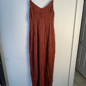 RUST EMBROIDERY DRESS - SIZE S OR M